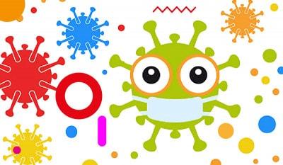 Covid-19 nei bambini, illustrazione virus covid-19 - alimentazionebambini. It by coop