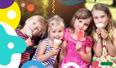 Voglia di gelato, bambini che mangiano il gelato - alimentazionebambini. It by coop