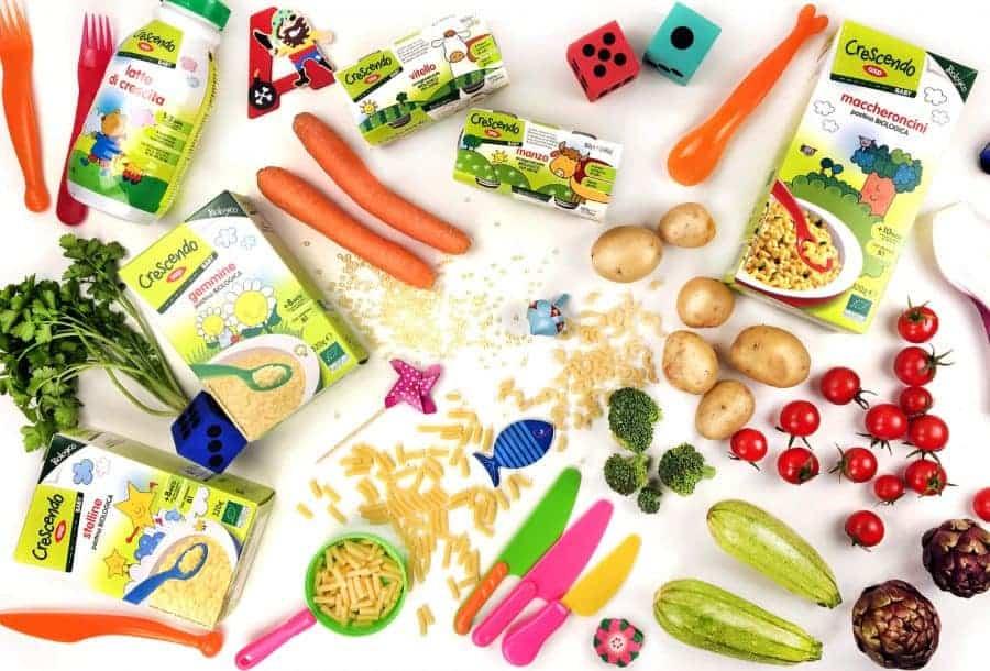 pastine e omogeneizzati Crescendo Coop con verdura fresche