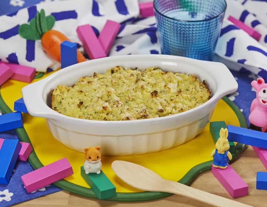 Sformato di patate e cavolfiore cotto al forno