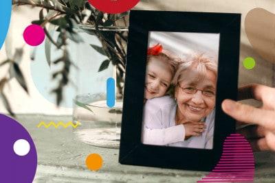 Nonni morti: foto nonna con nipote in cornice - alimentazionebambini. It by coop