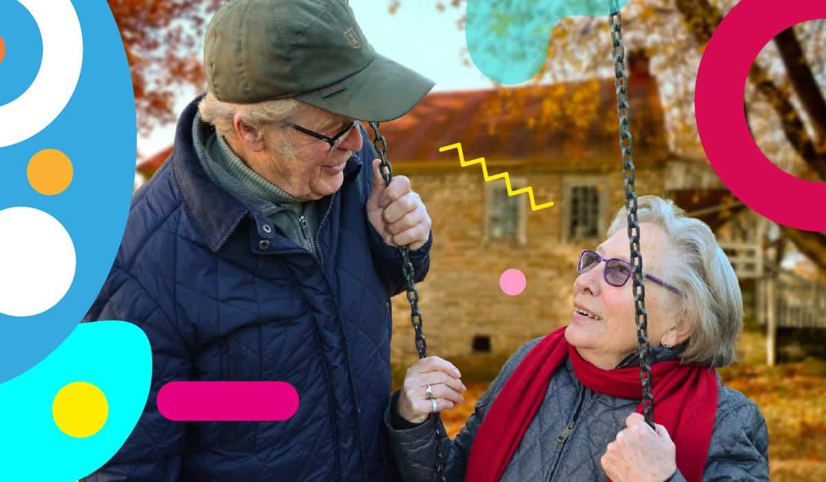 Giornata mondiale dei nonni: nonna e nonno che si parlano - alimentazionebambini. It by coop