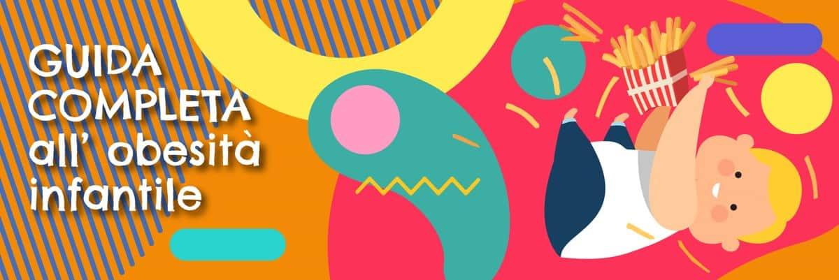 Illustrazione della guida all'Obesità infantile- Alimentazionebambini.it by COOP