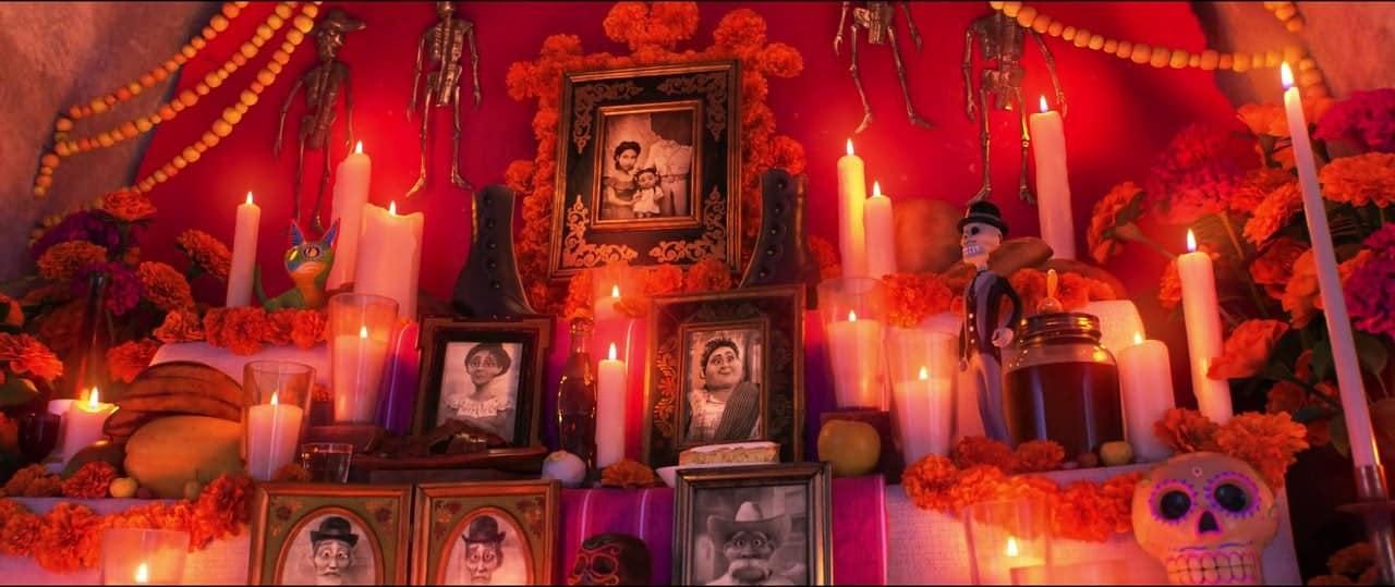 Altare dei morti (nonni morti) dal film coco della pixar-disney