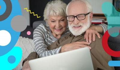Nonni: nonni in video call sorridenti - alimentazionebambini. It by coop