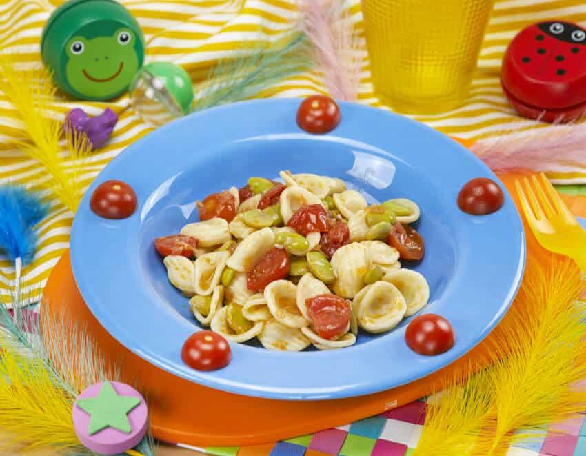 Orecchiette condite con pomodorini e fave - alimentazionebambini. It by coop