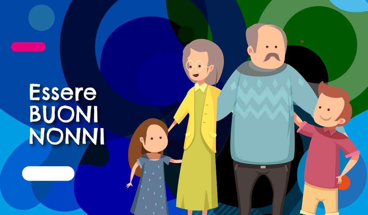 Come essere buoni nonni, illustrazione originale - alimentazionebambini. It by coop