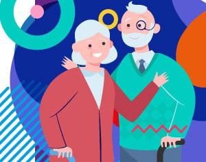 Festa dei nonni illustrazione - Alimentazionebambini.it by COOP