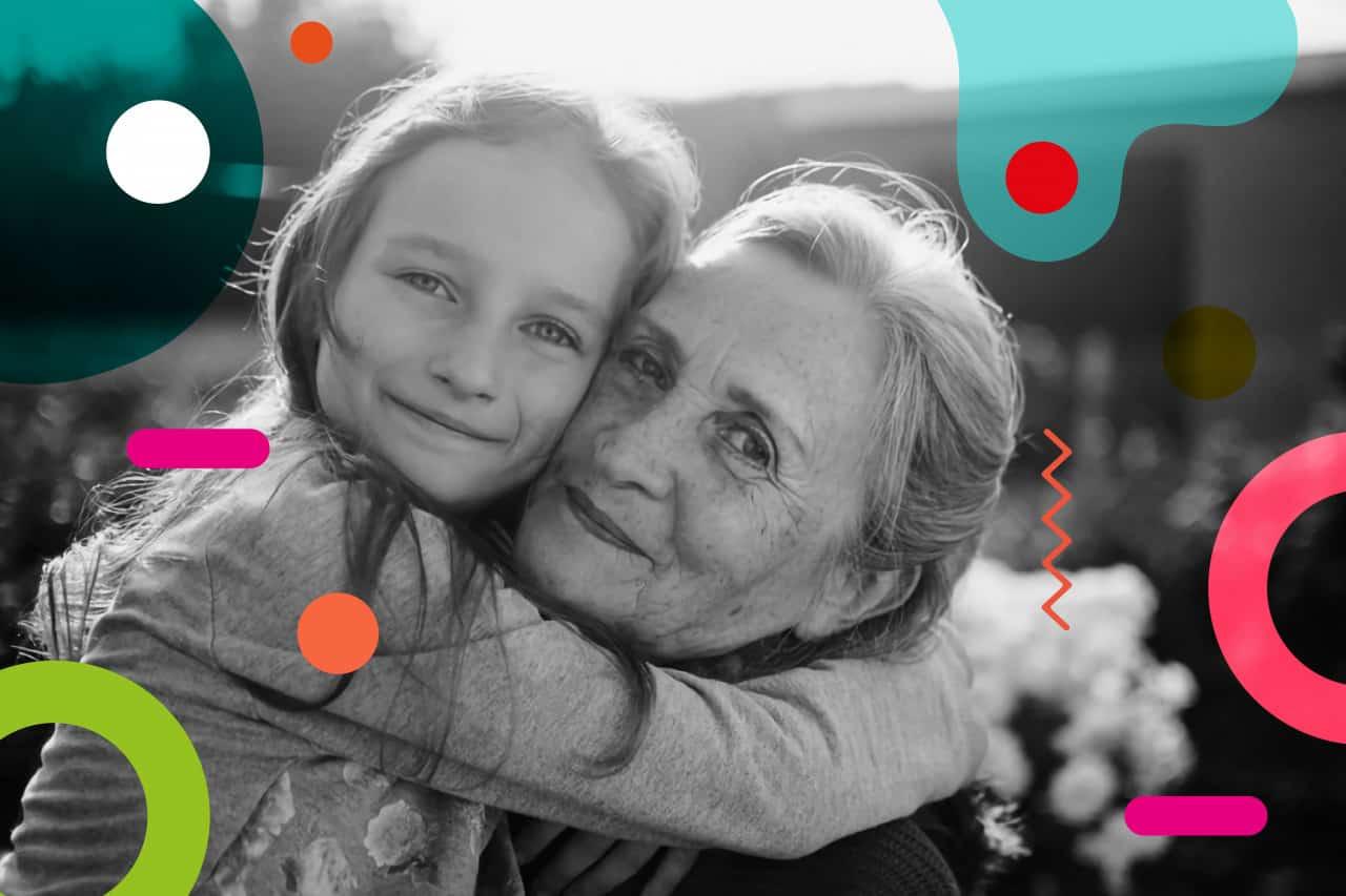 Festa dei nonni, nonna abbraccia la nipote - alimentazionebambini. E-coop. It by coo