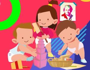 Metodo Montessori illustrazione - Alimentazionebambini.it by COOP