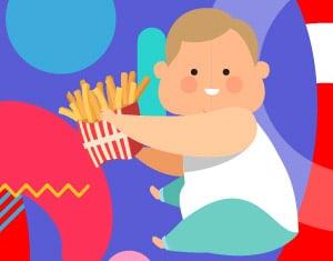 obesità infantile illustrazione - Alimentazionebambini.it by COOP