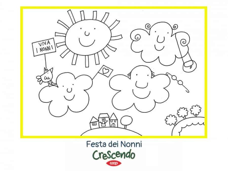 Festa dei nonni - illustrazione originale nicoletta costa - alimentazionebambini. It by coop