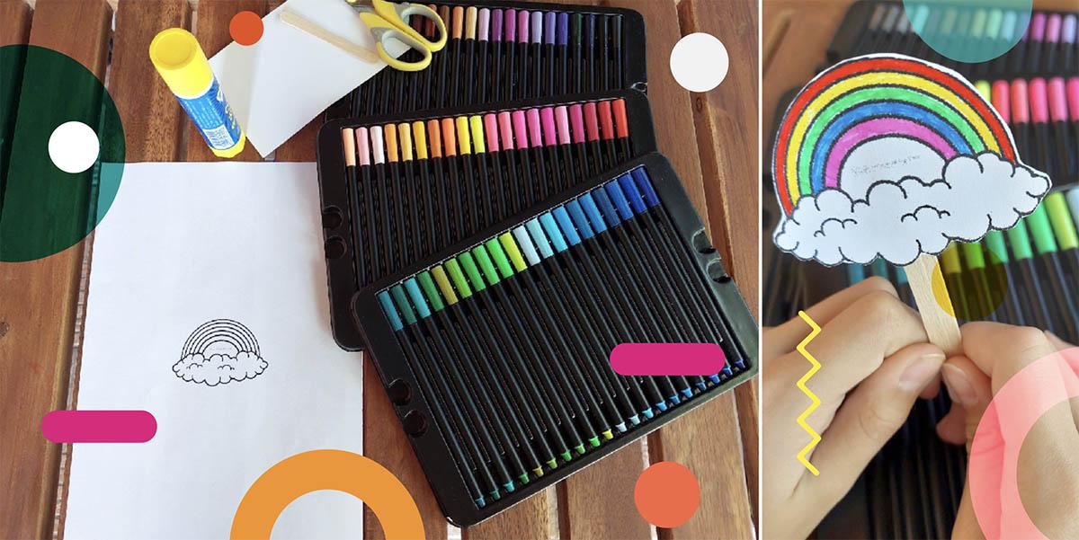 Lavoretti per la festa dei nonni scuola materna: segnalibro arcobaleno