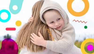 Mamma che abbraccia il suo bambino alimentazionebambini. It by coop